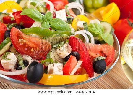 healthy greek salad bowl