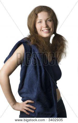 The Redhead Sporty Woman With Towel