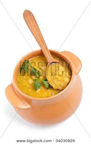 pot of chickpea and lentil moroccan soup
