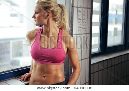 Fitness Woman Resting