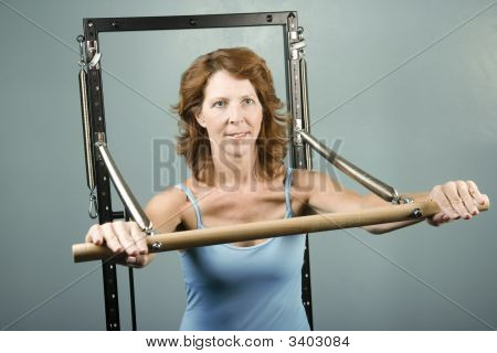 Woman Doing A Strength Workout