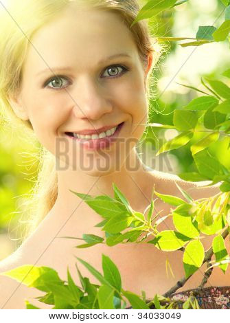 Face Of Beauty Girl In Nature
