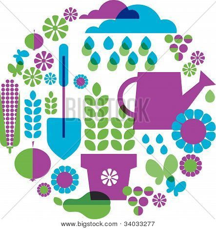garden patterned background