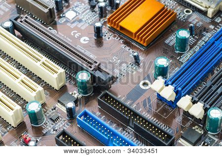 Old Mainboard Of Computer