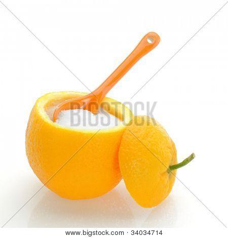 Fruit sugar in an orange
