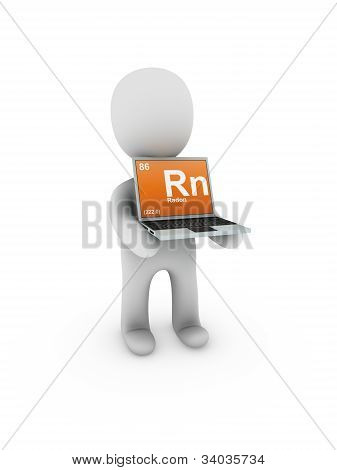 Radon Symbol On Screen Laptop