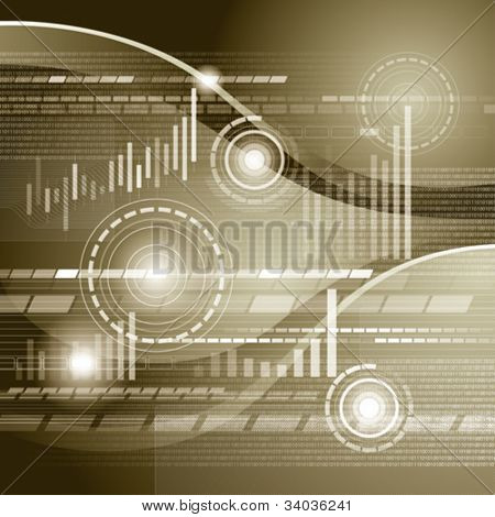Vector conceptual business virtual background with charts