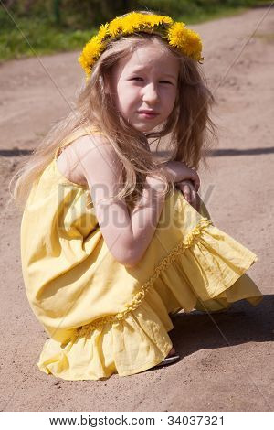 Little Girl In Yellow