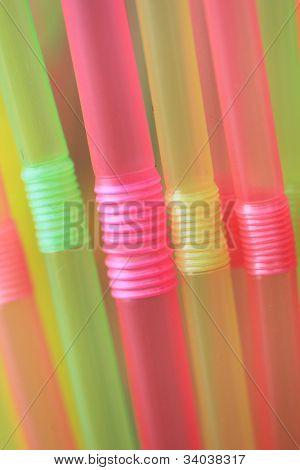 Straws closeup