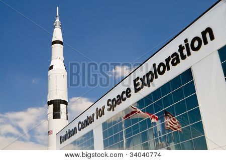 Facade of Davidson Center for Space Exploration in Huntsville, AL
