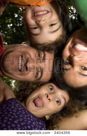 Beautiful Family Enjoying Together