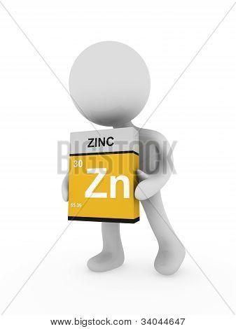 3D Man Carry A Zinc Box