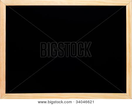Blackboard Or Chalkboard Rectangular Wooden Black Empty