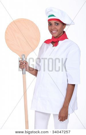 Pizza maker with shovel