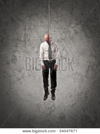 Hung businessman