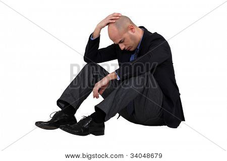 Businessman having a crisis