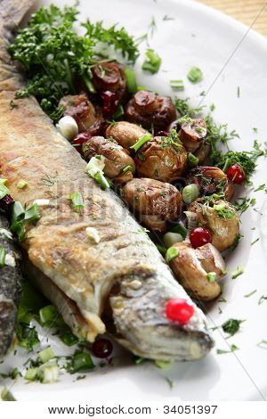 Fish With Mushrooms
