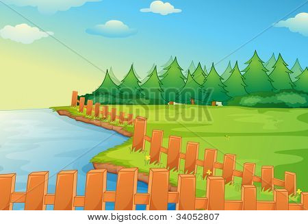 Illustration of a rural scene