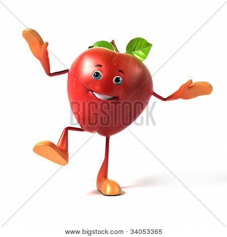 Food character - apple