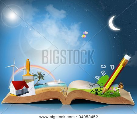 magical world of reading: magic book