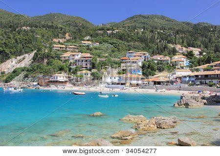 Agios Nikitas on the island of Lefkas in Greece