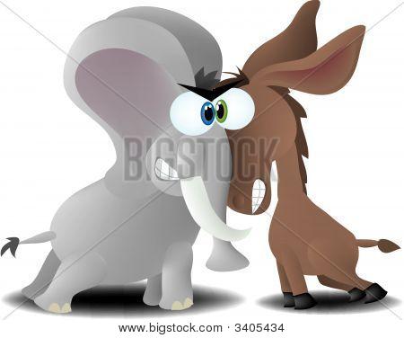 Elefante & burro