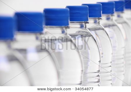 Water Bottle Lids Blurred