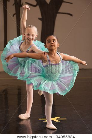 Ballerinas Pose Together