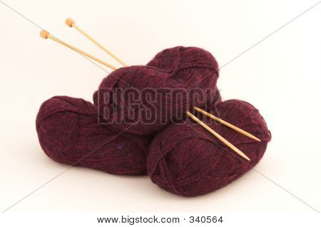 Knitting Wool And Needles