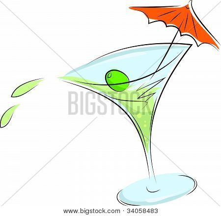 glass of martini