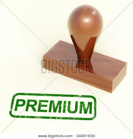 Premium Stamp Shows Excellent Product