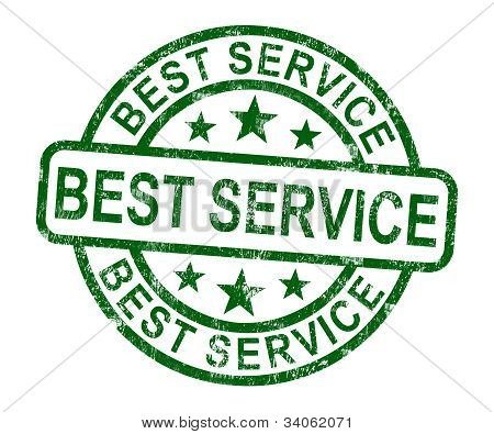 Best Service Stamp Shows Top Customer Assistance