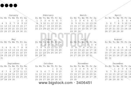 2009 Year Calendar