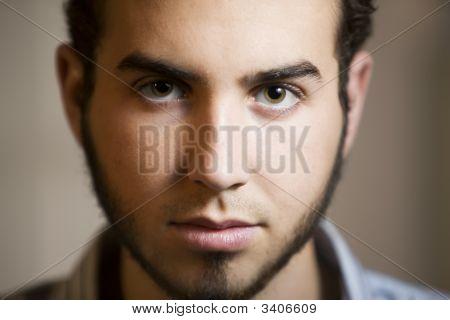 Closeup Shot Of A Young Man