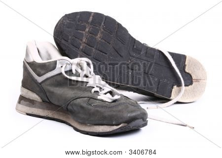 Old Grungy Running Shoes
