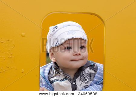 Funny Child In Children House