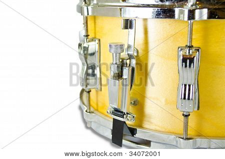 Used Snare Drum's Lug I Solated On White Background