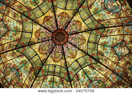 Stained Glass Dome, Colon Theater, Buenos Aires, Argentina