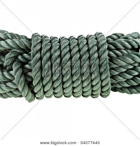 skein of cable rope  isolated over white