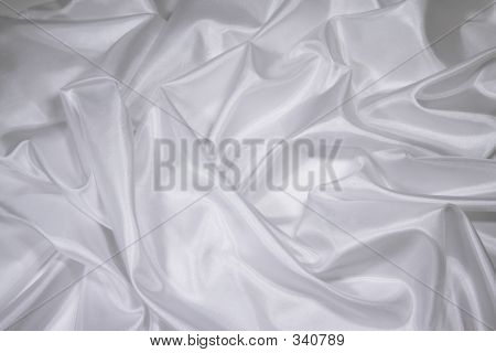 White Satin/Silk Fabric 1