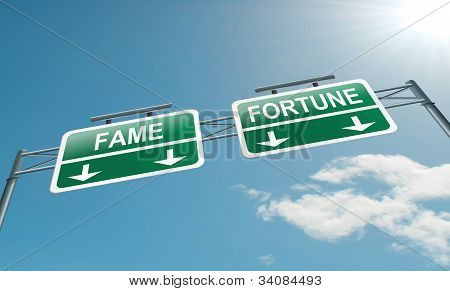 Fame And Fortune Concept.