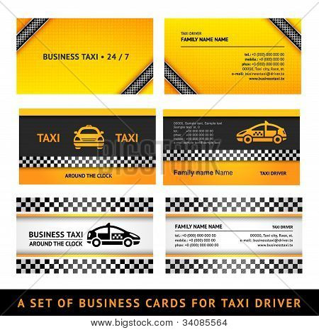Business card taxi - third set card taxi templates