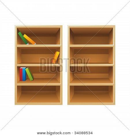 Vektor Holz Bücherregale