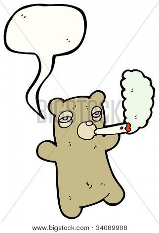 Cartoon Cat Smoking Weed Funny Characters Stock
