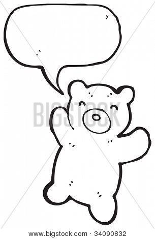 Cartoon süße Teddybär mit Sprechblase