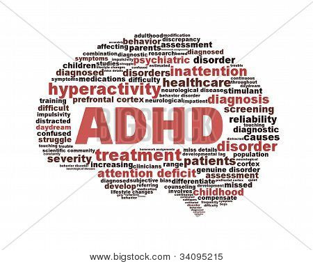 ADHD symbol design isolated on white