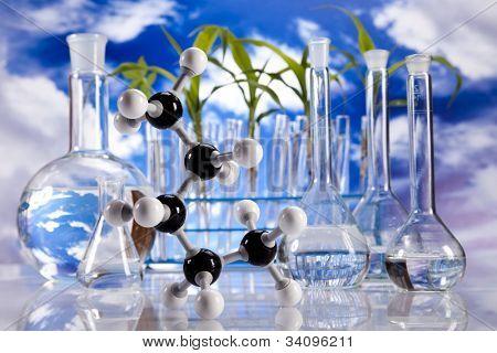 Laboratory  on sky background