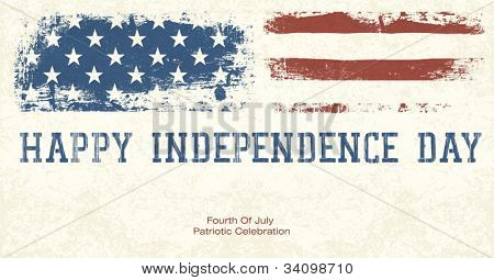 Fourth Of July Patriotic Celebration Background. Vector, EPS10