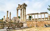 The Temple Of Trajan An Pergamon. Unesco World Heritage In Turkey poster
