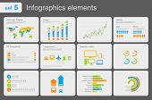 Infographics elements with icons.Multiuse! For business and finance reports, statistics, diagram gra